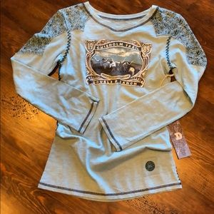 NWT Double D Ranch Chisholm Trail Long Sleeved Tee